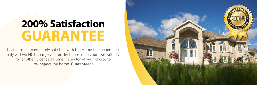 Double your Money back guarantee with all Blaine, Twin City Home Inspections